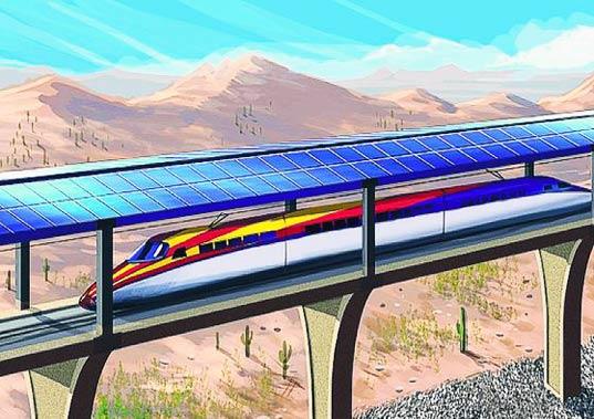 Tren bala solar